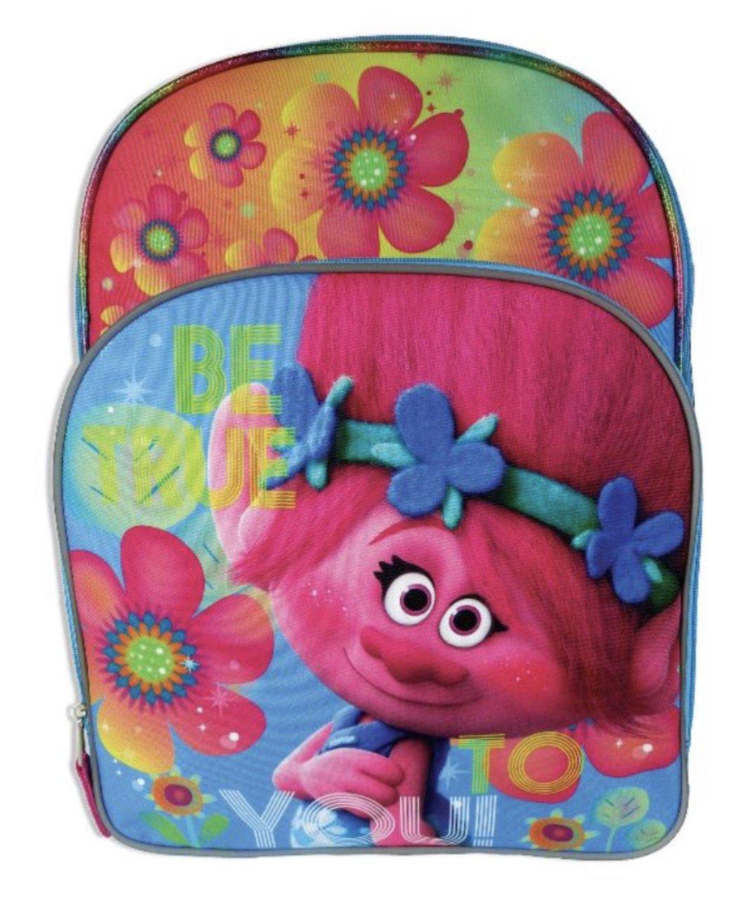 DreamWorks Trolls Poppy Full Size Backpack with Side Mesh Pockets B074PDTN7P