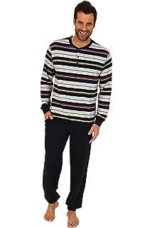 b5d6700611 Herren Pyjama lang mit Bündchen - auch in Übergrössen bis Grösse 70 - 271  101 90