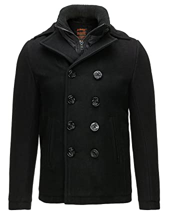 Schott Nyc Cyclone2 - Blouson - Caban - Manches longues - Homme - Noir -  Small 7879afd88d7