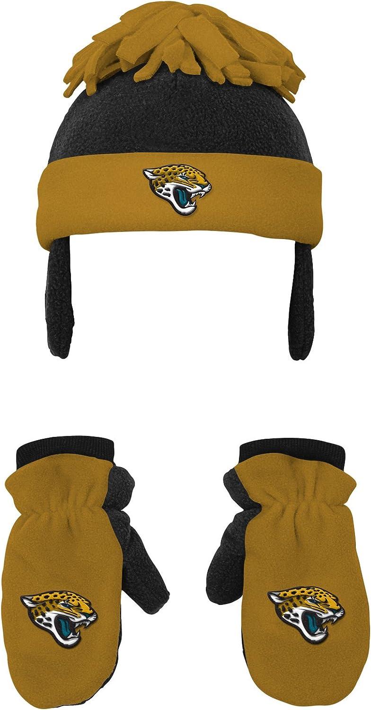 OTS NCAA Infant Pow Pow Knit Cap /& Mittens Set