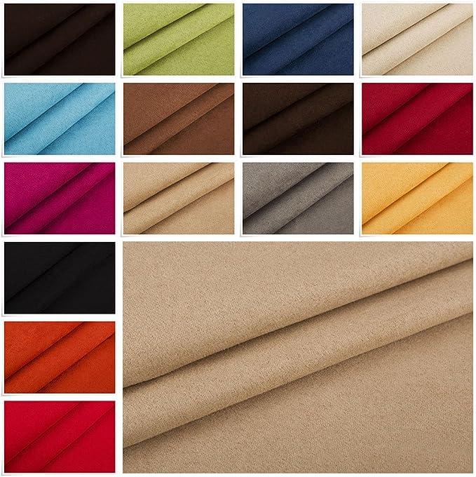 Edge, Nubuk, by the Metre, Microfibre, Velour, Suede Upholstery Fabric: Amazon.de: Küche & Haushalt