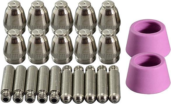 22Pcs SG-55 AG-60 Plasma Cutting Cutter Consumables Kit Nozzles 1.0 50Amp