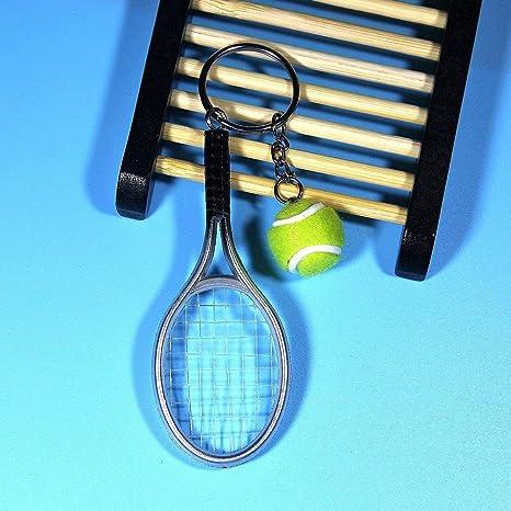 Delicacydex Moda Mini Raqueta de Tenis Colgante Llavero ...