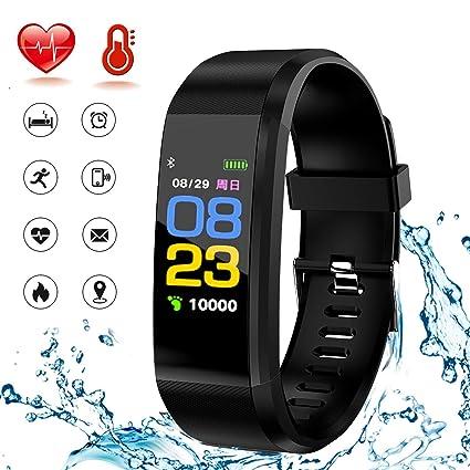 WADEO Montre Connectée Femme Homme Enfant Bracelet Connecté Smartwatch Podometre Cardiofrequencemetre Etanche IP67 Trackers dactivité Cardio ...