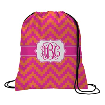 1d379a4ed69a Amazon.com | Pink & Orange Chevron Drawstring Backpack - Medium ...