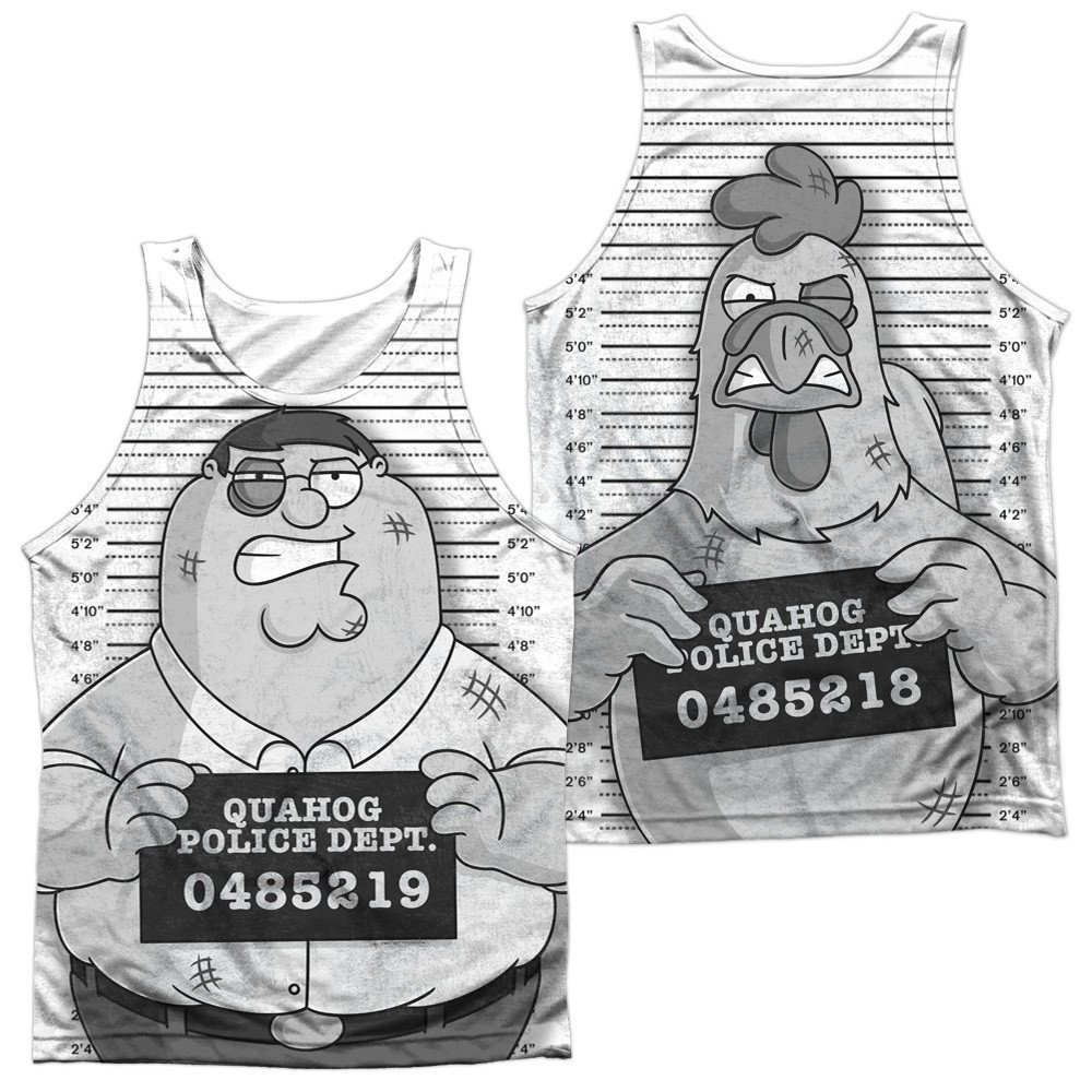 Mug Shot Adult Tank Top Family Guy