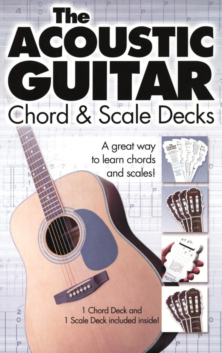 Amazon The Acoustic Guitar Chord Scale Decks Musical Instruments