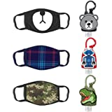 ABG Accessories Boys 3-Pack Kids Face Mask and Hand Sanitizer Holder Keychain (1 Fl Oz. Flip Cap Reusable Empty Bottles…
