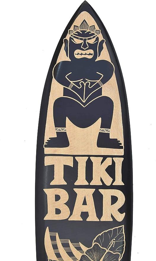 Tiki Planche De Surf 100 cm comme décoration pour accrocher Planche De Surf Hawaii Mers du Sud Fiji