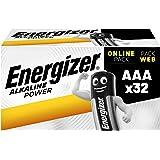 Energizer AAA Batterier, Alkalisk Effekt, 32 Stycken