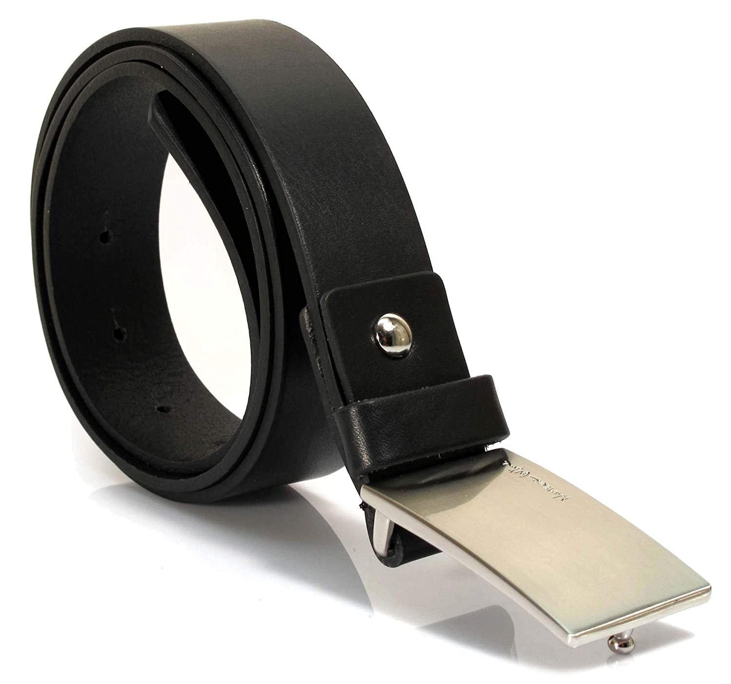 Womens Real Genuine Leather Belt Black Brown White 1.25 Wide S-L Casual Jeans AF1