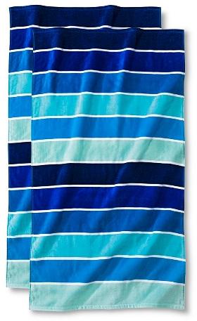 Cool Rugby Stripe Beach Towel - 2-pk. : Target