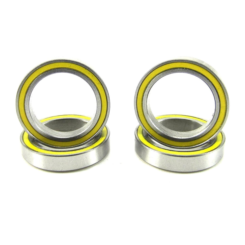 (4) 15x21x4mm Precision Ball Bearings ABEC 3 Rubber Seals YE TRB RC