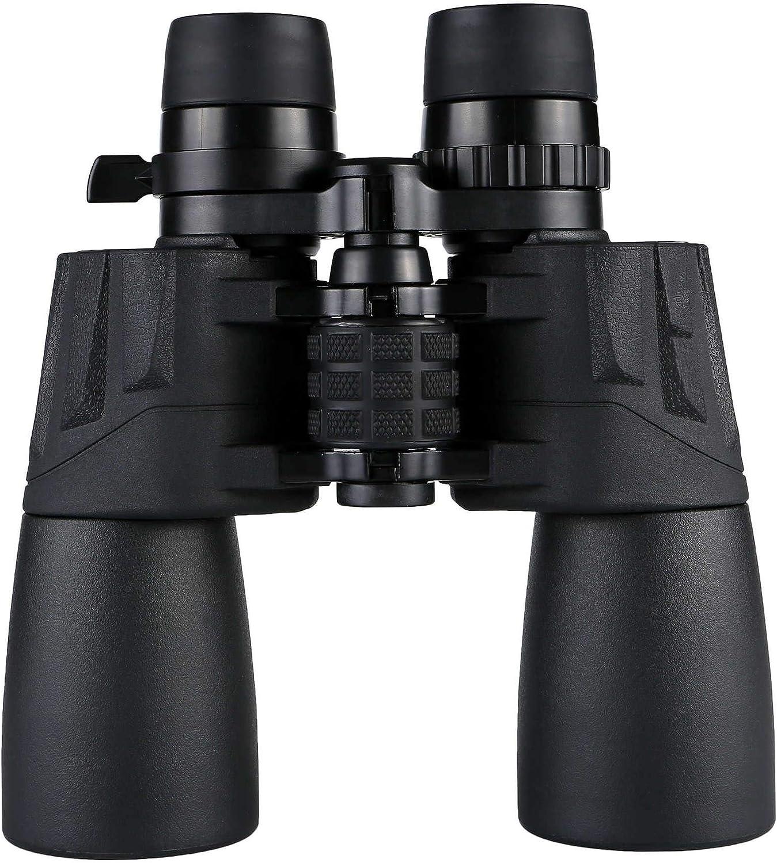10-30x50 Óptica Zoom Binoculares Prisma de Techo BAK4 para observación de Aves Adultas Astronomía Fútbol Safari Excursión Escalada Senderismo Viaje