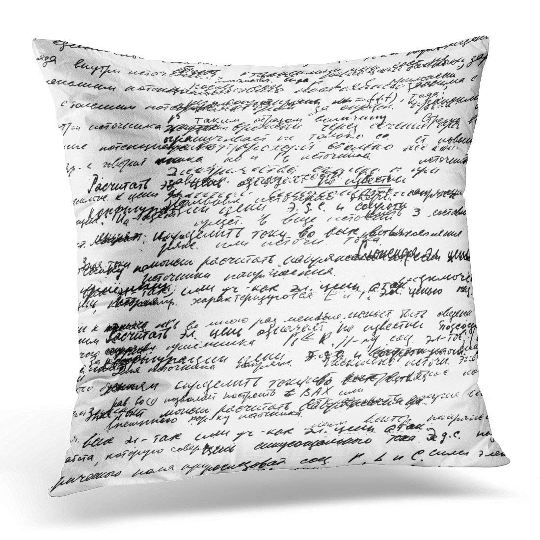 Attraktiv P.Scott Real Hand Written Text On White Lectures Archives Different Science  Geometry Math Physics Electronic Decorative Pillow Case Home Decor Square  18x18 ...