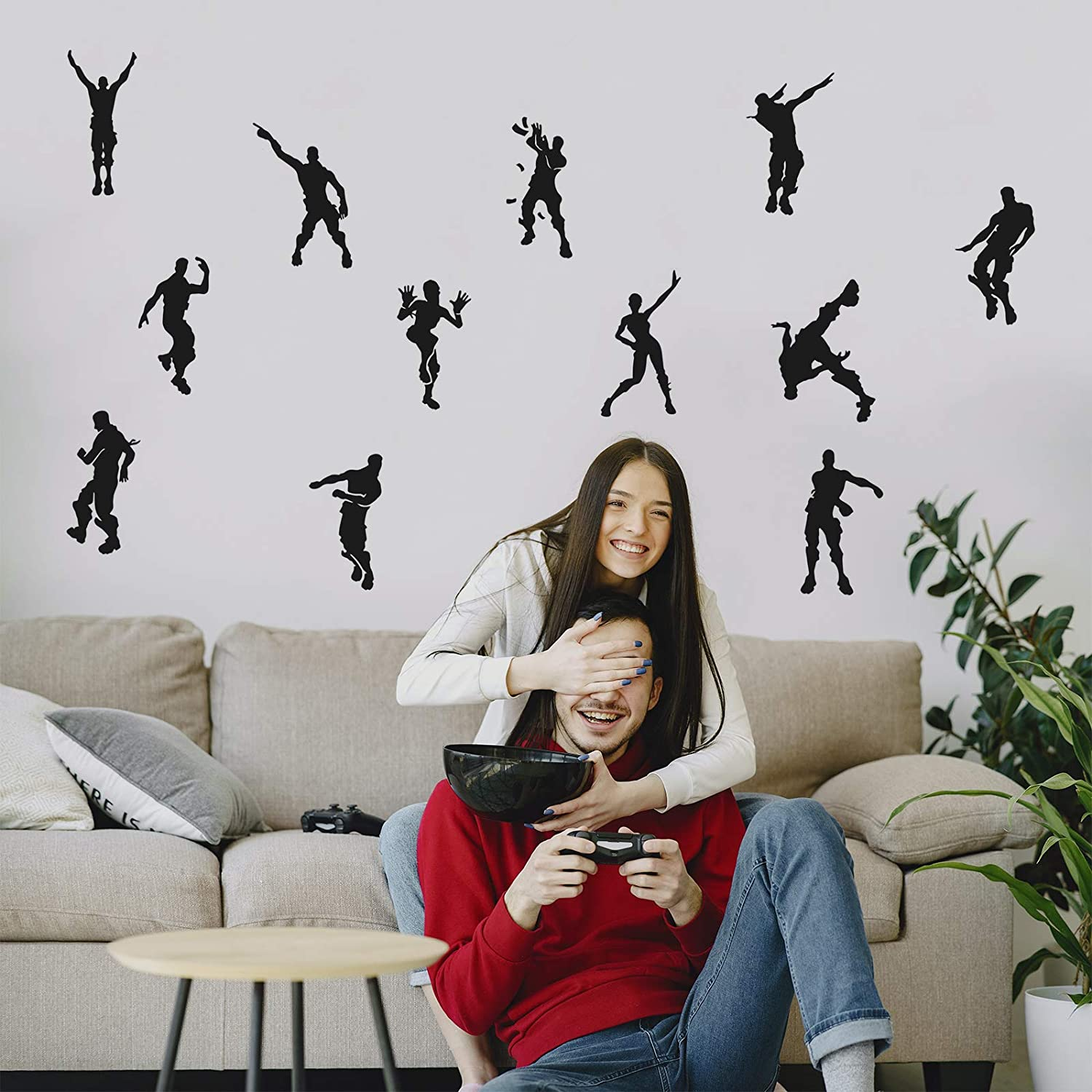 Gamer Wall Decals-Poster Decals Floss Dancing-Gamer Decor for Boys Room, Removable Wall Vinyl Decal Game Stickers for Nursery Kids Room (23.6 x 21.6 in) 10