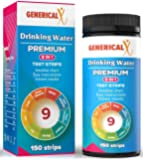 (100+50 Free Strips) FDA-Approved Drinking Water Test Kit |9 in 1 | ✓Lead ✓General Hardness ✓Nitrite ✓pH ✓Copper ✓Iron ✓Free Chlorine ✓Total Alkalinity ✓Nitrate Safe for Home, Tap, Well and Soil
