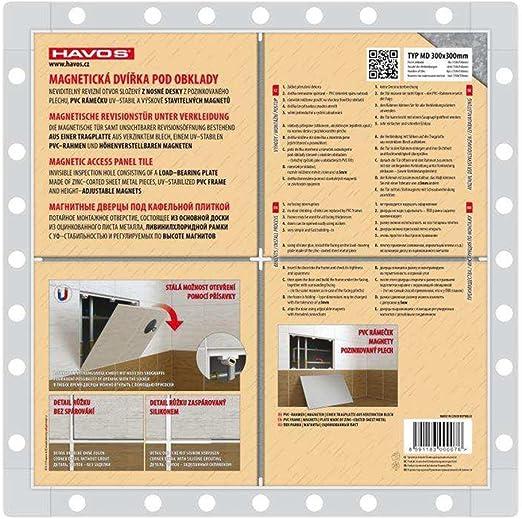 Trappe de visite Trappe de r/évision magn/étique carrelable 300 x 150mm