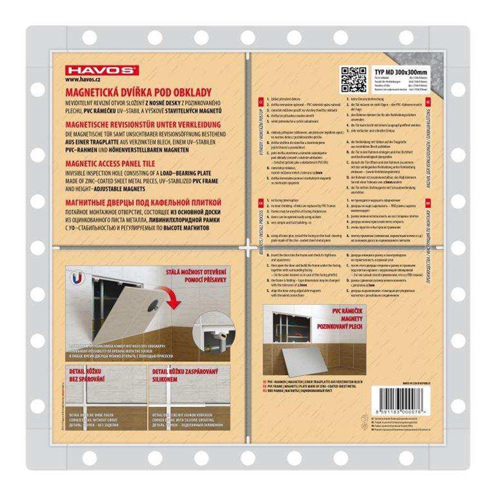 Aleta de mantenimiento de la puerta de inspecci/ón magn/ético ser barra de azulejos 250 x 330mm