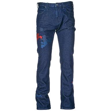 7f24be08e4648 Emporio Armani Vaqueros Jeans Denim de Hombre Pantalones Nuevo BLU EU 32  (UK 32) 6Z1J451D0ZZ0941  Amazon.es  Ropa y accesorios