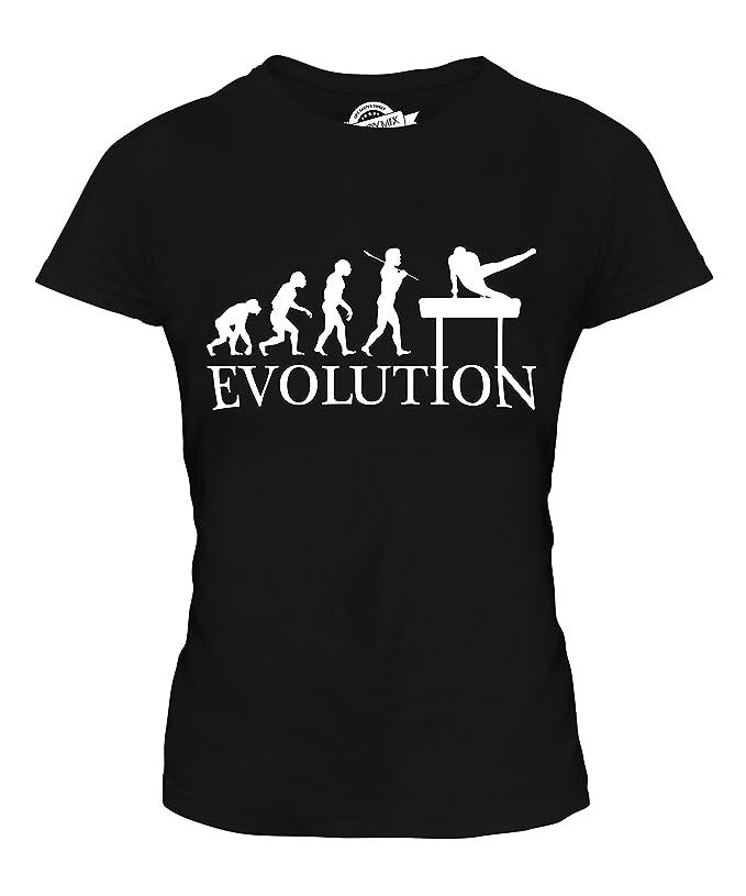 CandyMix Gymnastik Pauschenpferd Evolution Des Menschen Damen T Shirt:  Amazon.de: Bekleidung