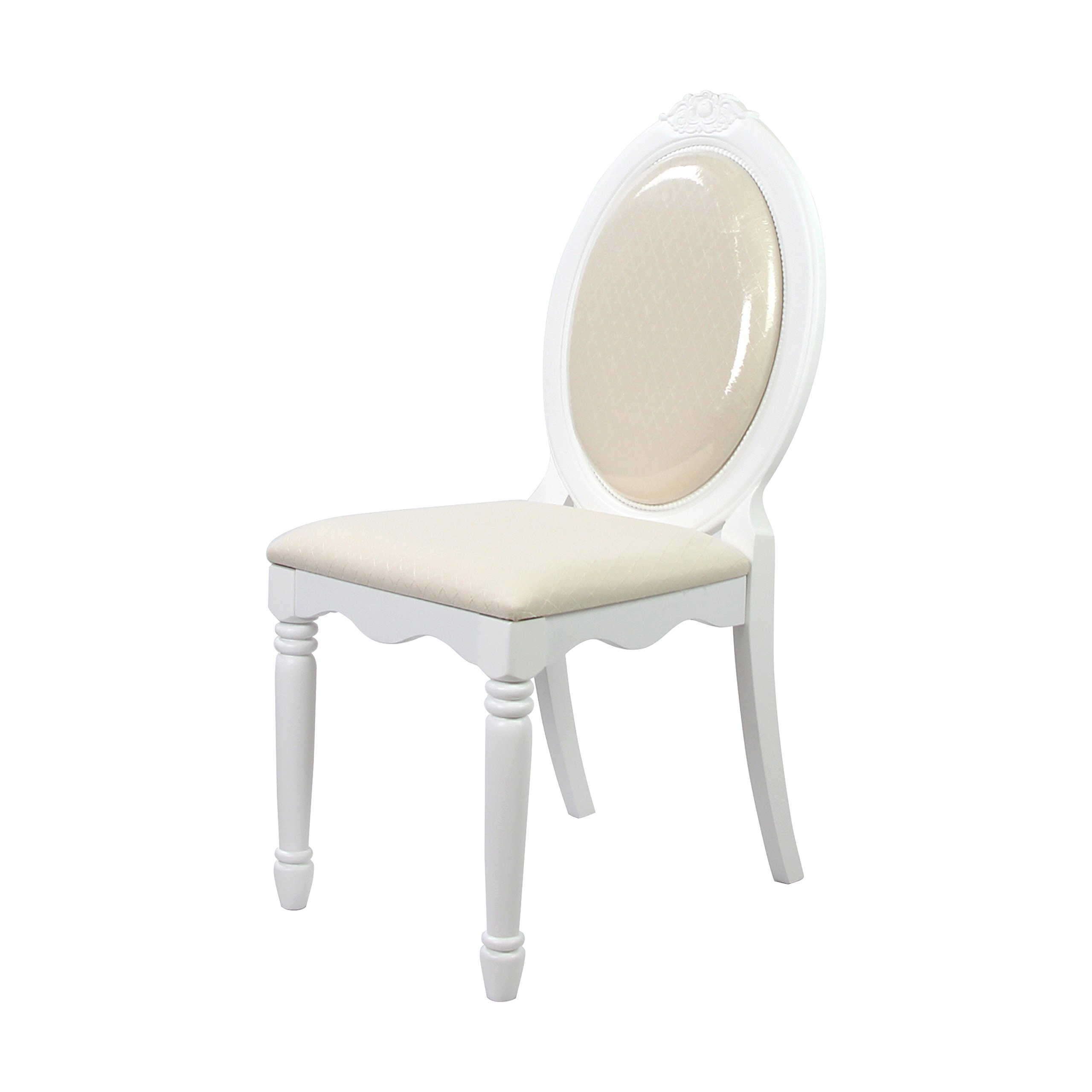 ACME 01689 Flora Chair, White Finish