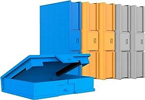 Inateck 6 Piezas 3,5 Pulgadas Funda Pro,Funda Caja de Almacenamiento para HDD Discos Duros 3,5