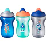Tommee Tippee Non-Spill Toddler Sippee Cup, 9+ Months, 10 Oz, 3 Count, Boy, Gray, Blue and Green