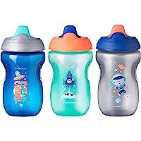 Tommee Tippee Taza para bebé antiderrames, niño, 9 + meses, 10 onzas, 3 unidades, niño