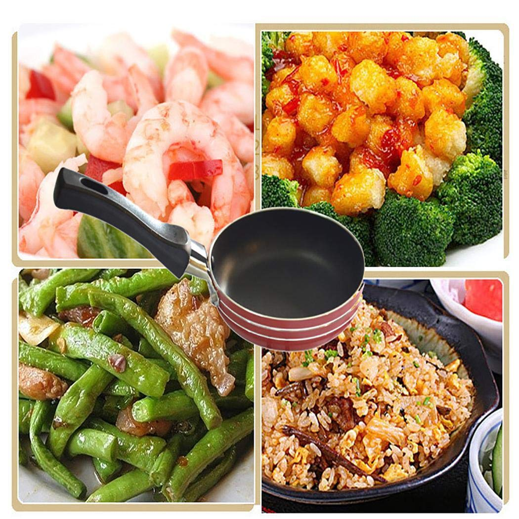 Etuoji Portable Nonstick Frying Pan Skillet Mini Cookware Household Kitchen Tool Grill Pans by etuoji (Image #5)