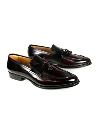 Men Burgundy leather loafers 2655/302