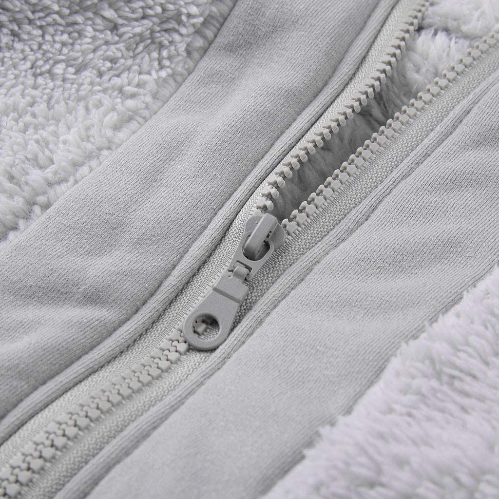 Garish Winter Women Fashion Faux Fur Warm Zipper Jacket Outerwear Casual Long Sleeve Fleece Coat Streetwear with Pocket