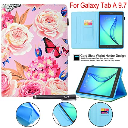 Amazon.com: Newshine - Funda con tapa para Galaxy Tab A 9.7 ...