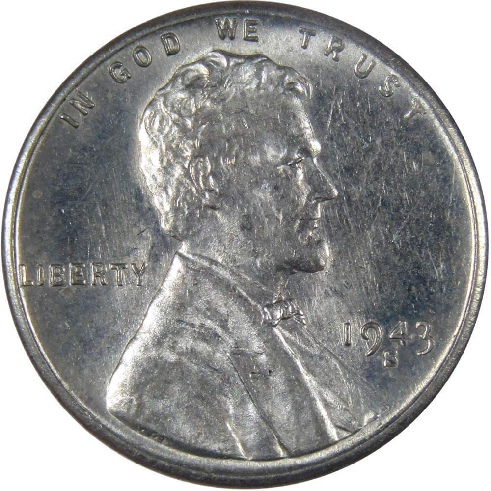 1943-S  Lincoln uncirculated BU  steel//zinc