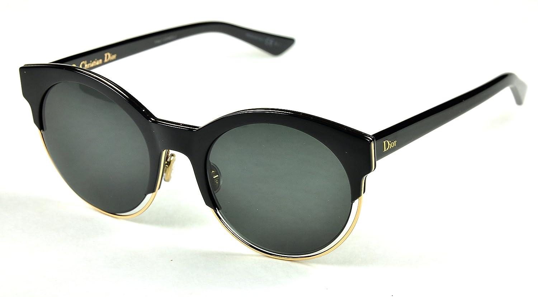 Amazon.com  Christian Dior Sideral 1 Color J63Y1 Black-Gold  Grey lenses   Clothing 38b479af68