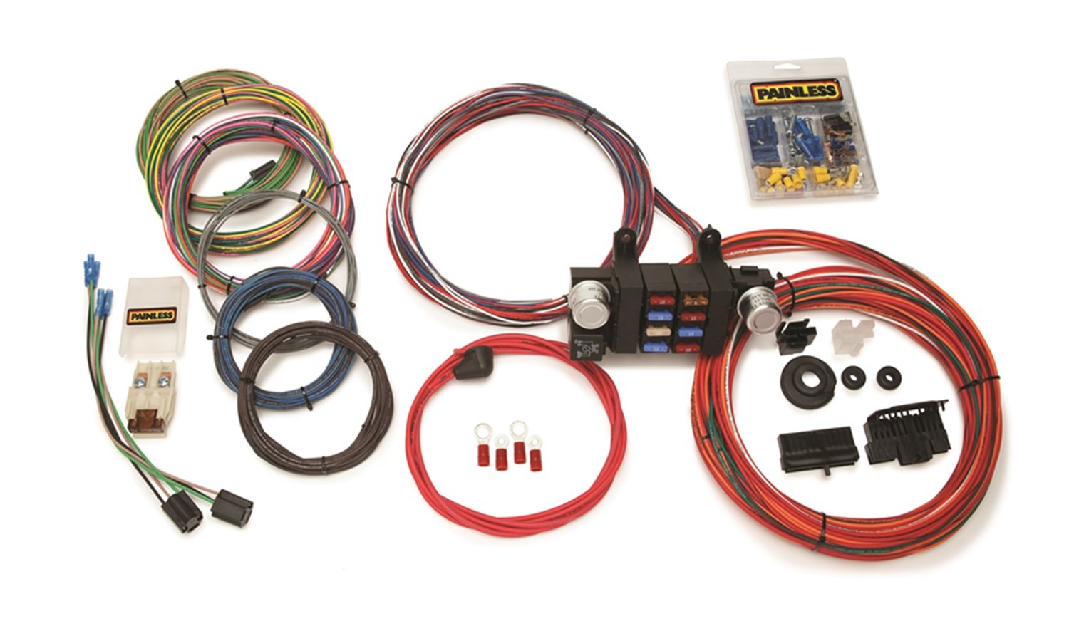 714FypRjpJL._SL1500_ amazon com painless wiring 10308 8 circuit mod t bucket h automotive wiring harness at reclaimingppi.co