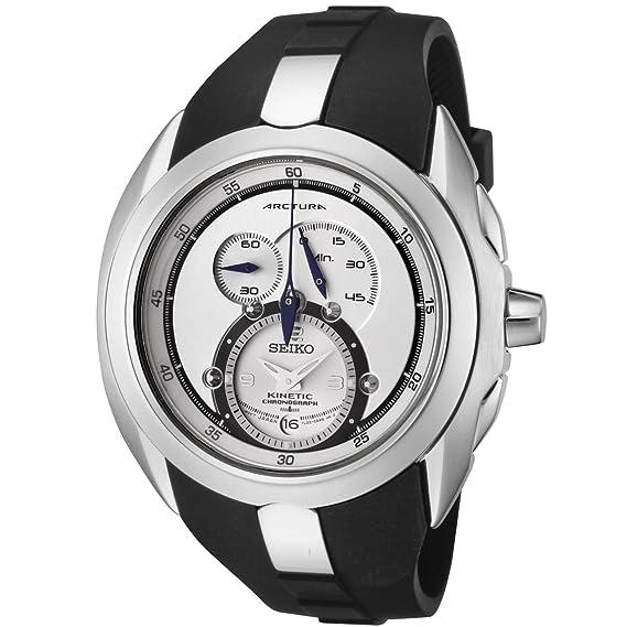 Seiko Watches SNL049 - Reloj de pulsera Unisex hombre unisex, Caucho, color Negro