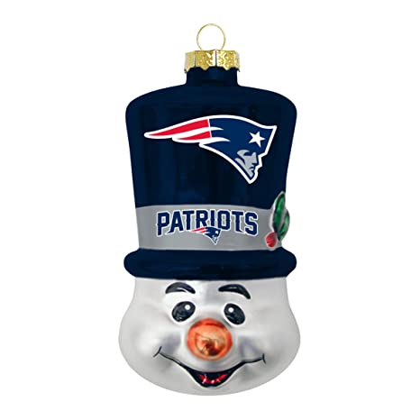 Image Unavailable. Image not available for. Color  New England Patriots Blown  Glass Top Hat Snowman Ornament 4e8787dc5