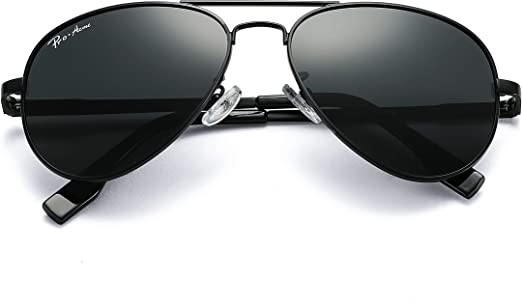 Men Sports Sunglasses Polarized Aviator Polycarbonate Lens UV Blocking
