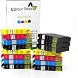 15 XL High Capacity Colour Direct Compatible Ink Cartridges Replacement For Epson 18XL - Expression Home XP102, XP202, XP212, XP215, XP205, XP30, XP302, XP305, XP312, XP315 XP402, XP412, XP415, XP405, XP405WH, XP225 XP322, XP325, XP422, XP425 Printers - T1811 T1812 T1813 T1814 T1816 (6 Black 3 Cyan 3 Magenta 3 Yellow)