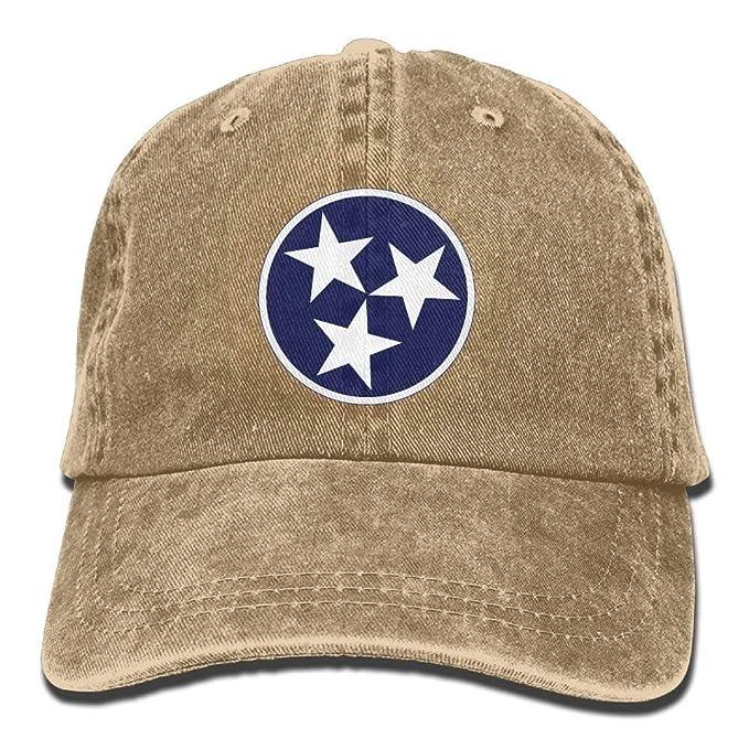 No Soy Como Tu Tenne Tri Star Flag Snapback Cotton Cap: Amazon.de ...