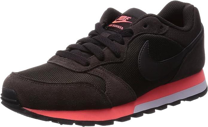 Nike MD Runner 2 Sneakers Damen Schwarz/Heiße Lava
