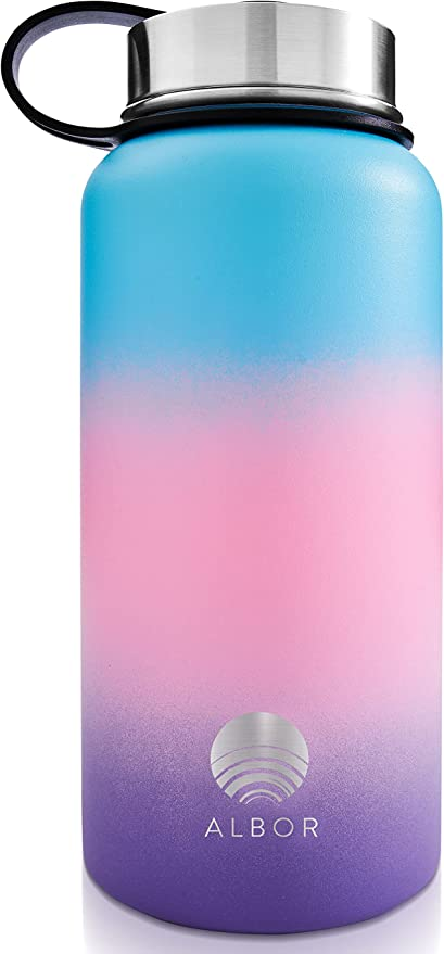 ALBOR Insulated Water Bottles with Straws Insulated Water Bottles 32 Oz