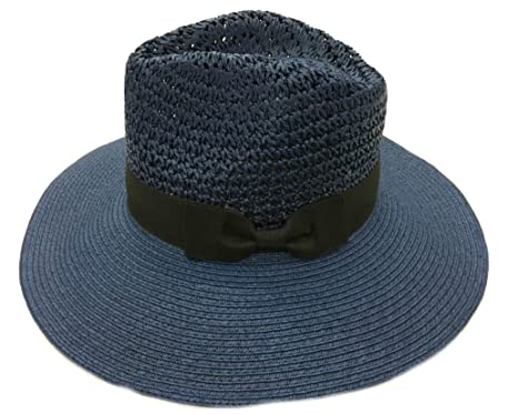 763c9705dbd Image Unavailable. Image not available for. Color  Taylor Sun Styles 100% Paper  Straw Modern-Day Fedora Style Ladies Sun Hat -