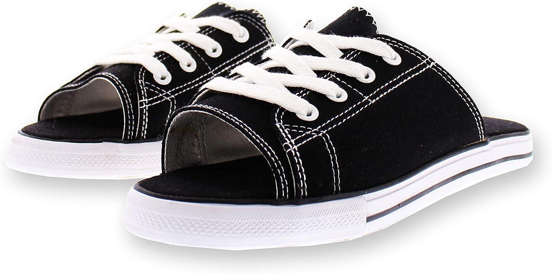 Ace Lace Up Sandals for Women,Athletic Slide Sandals,Canvas Shoes,Sports Slides