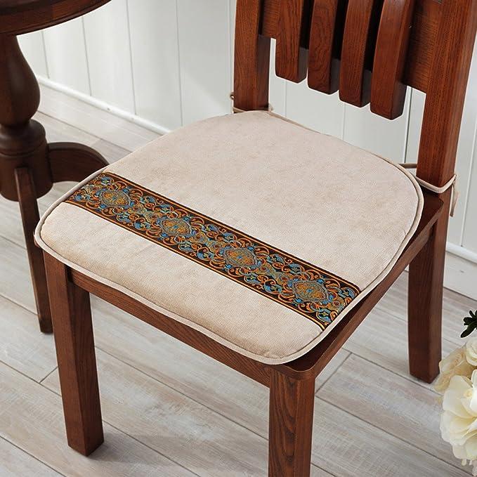 Dining Chair Cushion Chair Cushion Extra Thick Cushion 45 45cm White Amazon Co Uk Kitchen Home