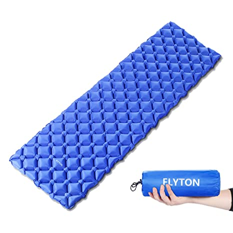 FLYTON Sleeping Pad Camping Mat Inflatable Ultralight Mattress for Outdoor Backpacking Hiking Trekking Mountaineering Tent