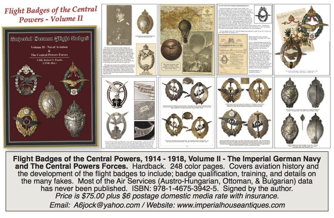 Volume II -- The German Navy & Central Powers Air Services (Imperial German Flight Badges, Volume II) ebook