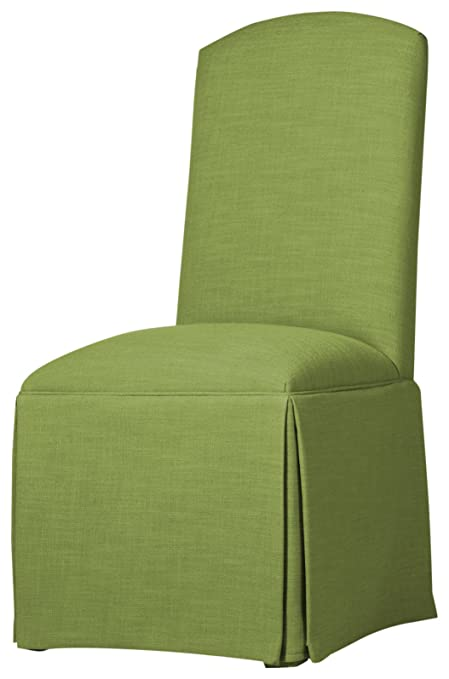Sloane Whitney Hadley Skirted Parsons Chair, Lime
