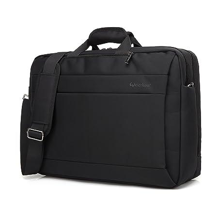 Business Laptop Messenger Bag 17-17.3 Inch Nylon Multi-Compartment Briefcase Computers Backpack Hand Shoulder Bag Tablet Case for Men Student Fits up Office College Travel Casual Black